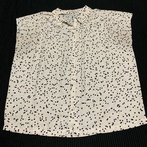 LOFT short sleeve polka dot blouse